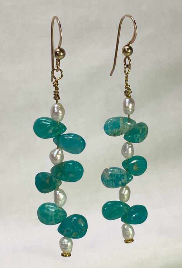 amazonite-pearl-earring