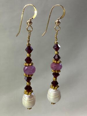 ruby-swarovsky-earrings