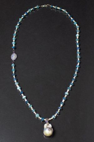 Moonstone Pearl Pendant 3
