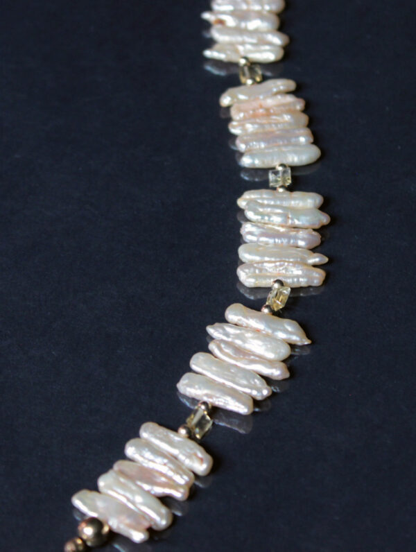 pearl citrine necklace