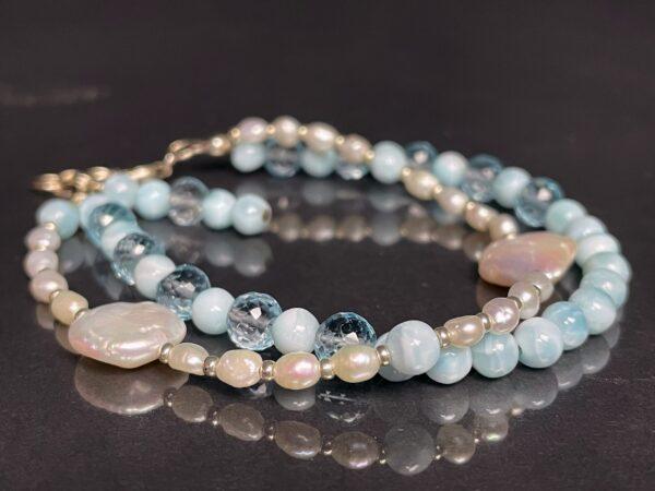 larimar topaz pearl bracelet 2