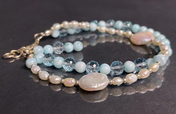 larimar topaz pearl bracelet 3