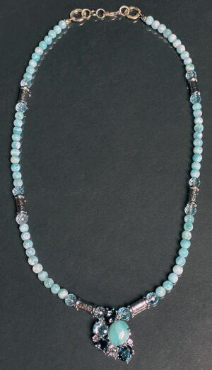 larimar topaz ss necklace